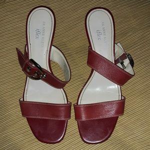 Anne Klein Leather Sandals!